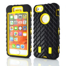 Tire Pattern Detachable Hybrid Case for iPhone 6 Plus