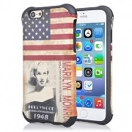 Hybrid Hard Case for iPhone 6 Retro US Flag