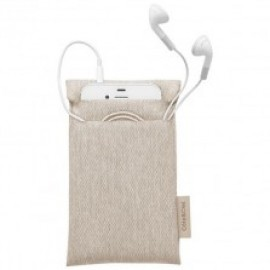 Cote and Ciel Fabric Pouch iPhones/ iPod Touch, White Pebble